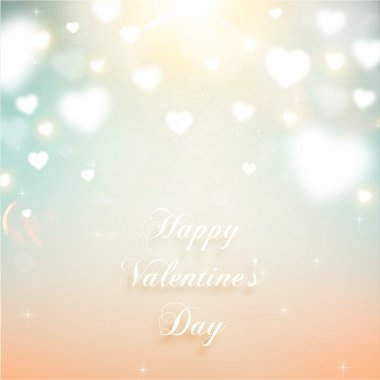 Valentine's Day Background with Hearts. Vector Love Design. clip art vector
