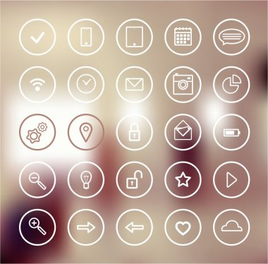Set of web icons for business