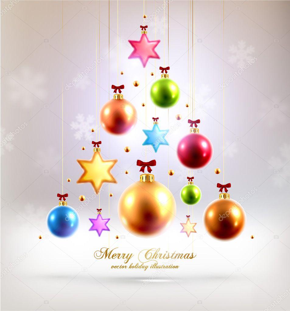 estrellas y bolas de Navidad — Archivo Imágenes Vectoriales ...