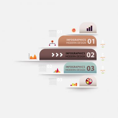 Modern infographic template for business