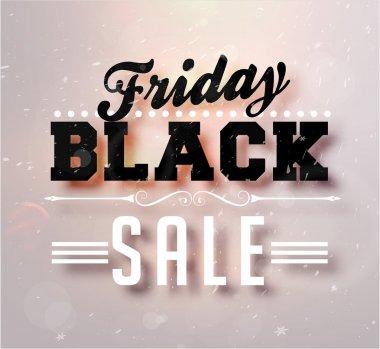 Black Friday Sale Vector for Christmas Sale Banner Design