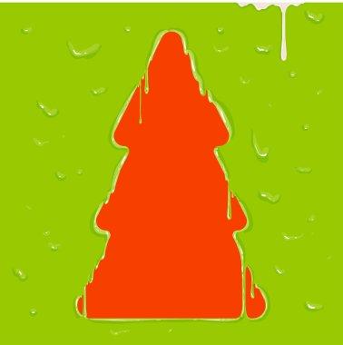 Melting Christmas Tree, paint drops.