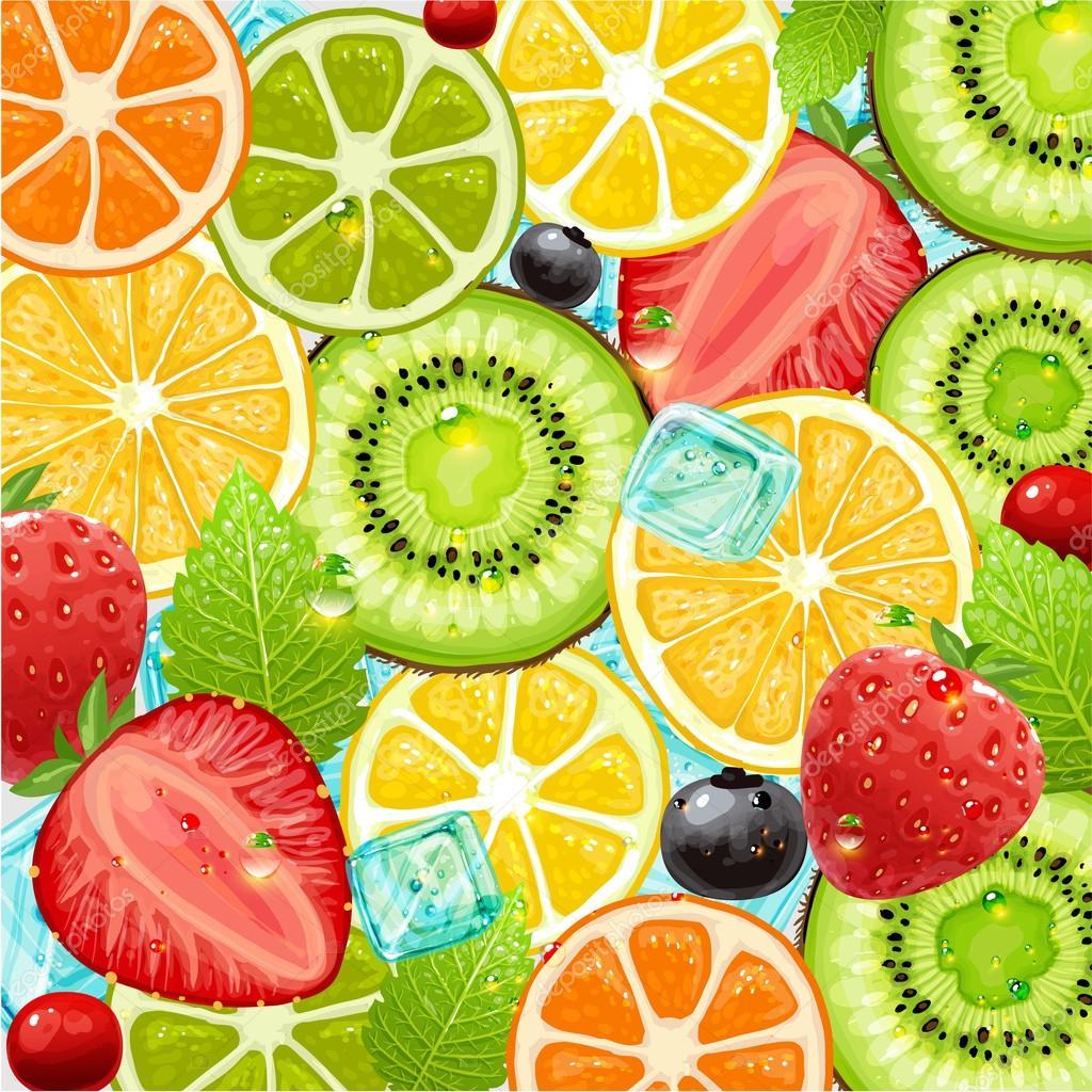 Summer holidays vector illustration set