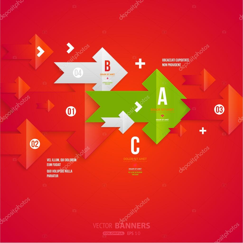plantilla de infografía moderna para el diseño de negocios — Archivo ...