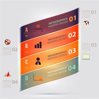 Modern design infographic template.