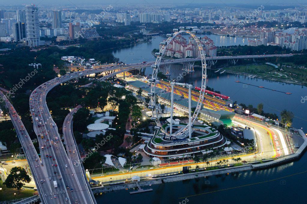 Circuito Callejero De Marina Bay : Marina bay street circuit facebook singapore flyer y marina bay
