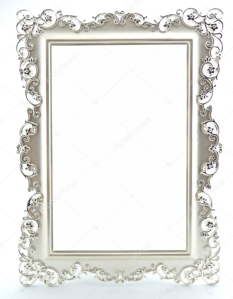 Isolated decorative frame over white background — Stock Photo ...