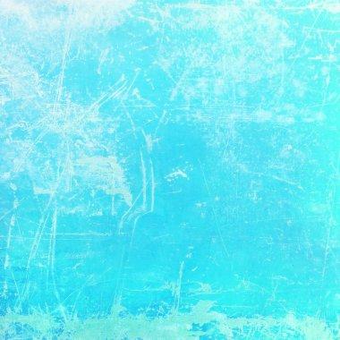 Distressed cyan background