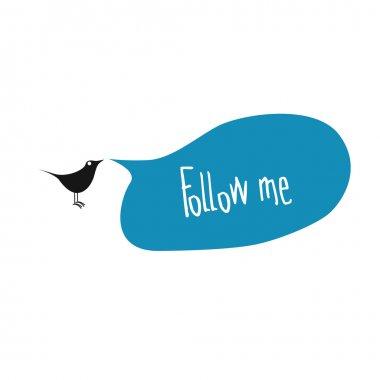 Follow me website element