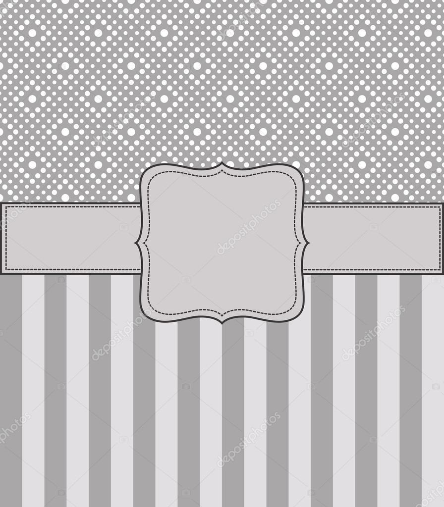 marco retro vintage gris — Vector de stock © ivan.baranov #14869269