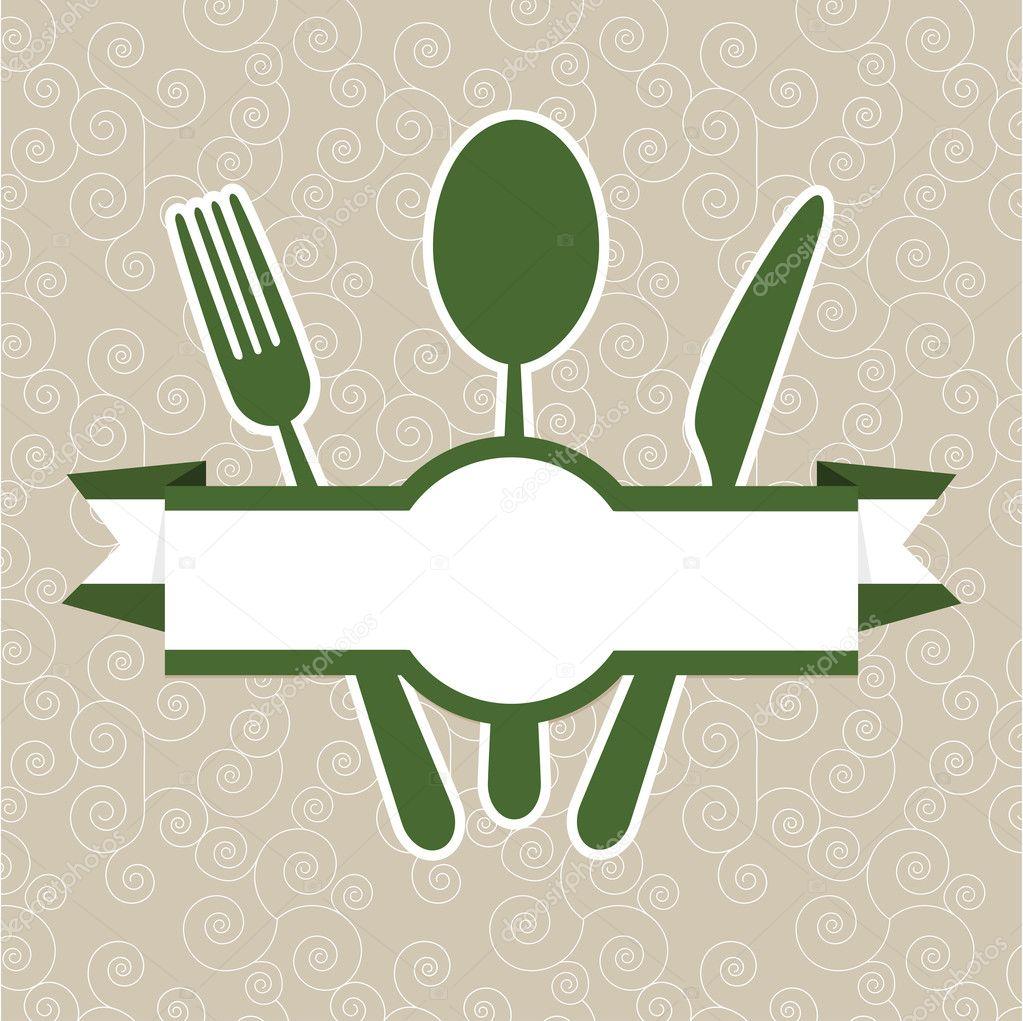 grün Vintage retro Restaurant Menüvorlage Abdeckung — Stockvektor ...
