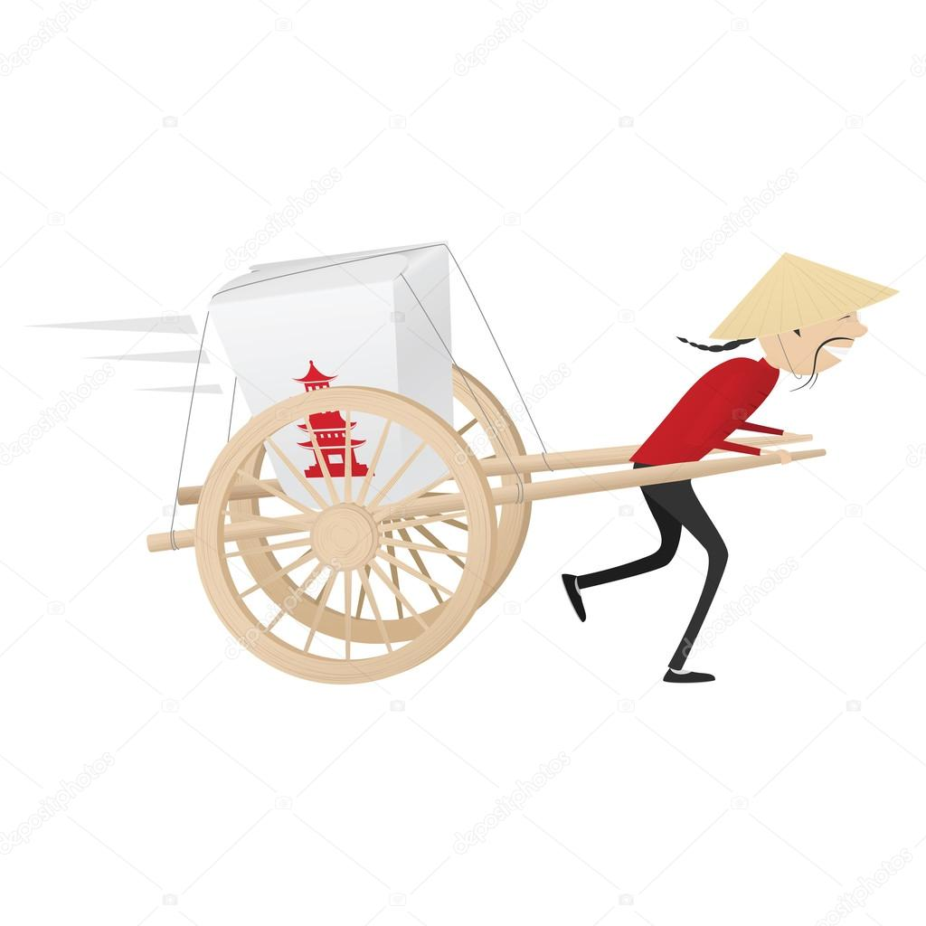 asian delivery boy