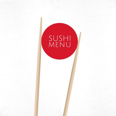 Sushi menu cover template