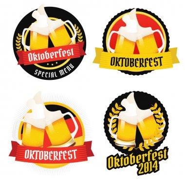 Set of Oktoberfest labels, badges and menu elements