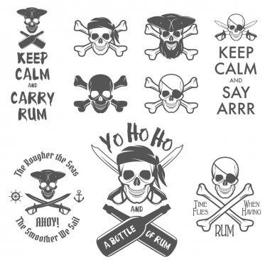 Set of pirate design elements