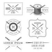 Set of tailor labels and emblems