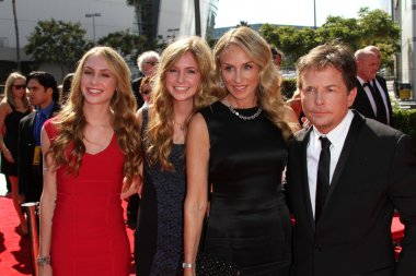 Michael J. Fox, Tracy Pollan and family