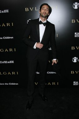 Adrien Brody at a Bvlgari Private Event Honoring Simon Fuller And Paul Haggis To Benefit Save The Children And Artists For Peace And Justice, Private Location