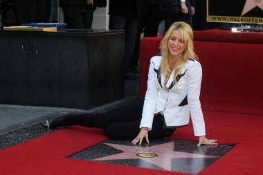 Shakira at her Hollywood Walk of Fame Induction Ceremony, Hollywood