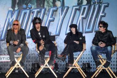 Motley Crue at the KISS & Motley Crue Press Conference, Roosevelt Hotel, Hollywood, CA 03-20-12