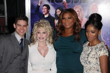 Jeremy Jordan, Dolly Parton, Queen Latifah, Keke Palmer at the