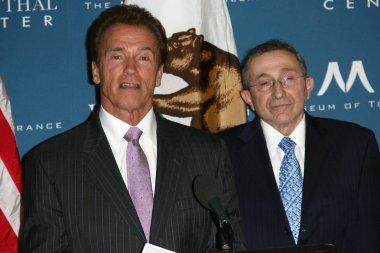 Arnold Schwarzenegger, Rabbi Marvin Hier