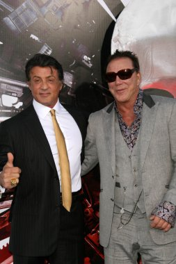 Sylvester Stallone and Mickey Rourke