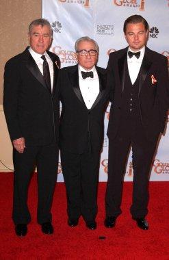 Robert De Niro, Martin Scorsese and Leonardo DiCaprio
