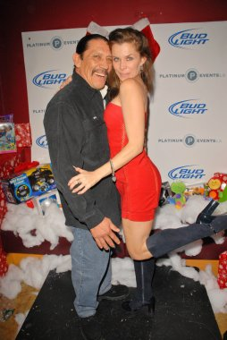 Danny Trejo and Alicia Arden at Bridgetta Tomarchio B-Day Bash and Babes in Toyland Toy Drive, Lucky Strike, Hollywood, CA. 12-04-09