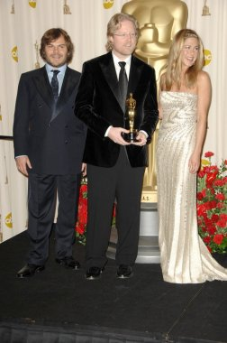 Jack Black with Andrew Stanton and Jennifer Aniston