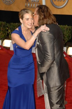 Kate Winslet and Mickey Rourke at the 15th Annual Screen Actors Guild Awards. Shrine Auditorium, Los Angeles, CA. 01-25-09