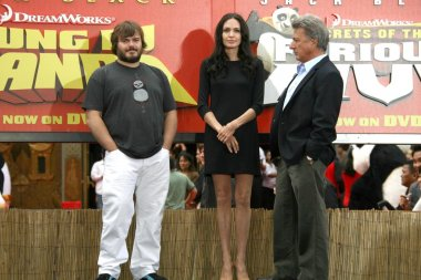 Jack Black with Angelina Jolie and Dustin Hoffman