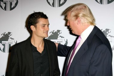 Orlando Bloom and Donald Trump