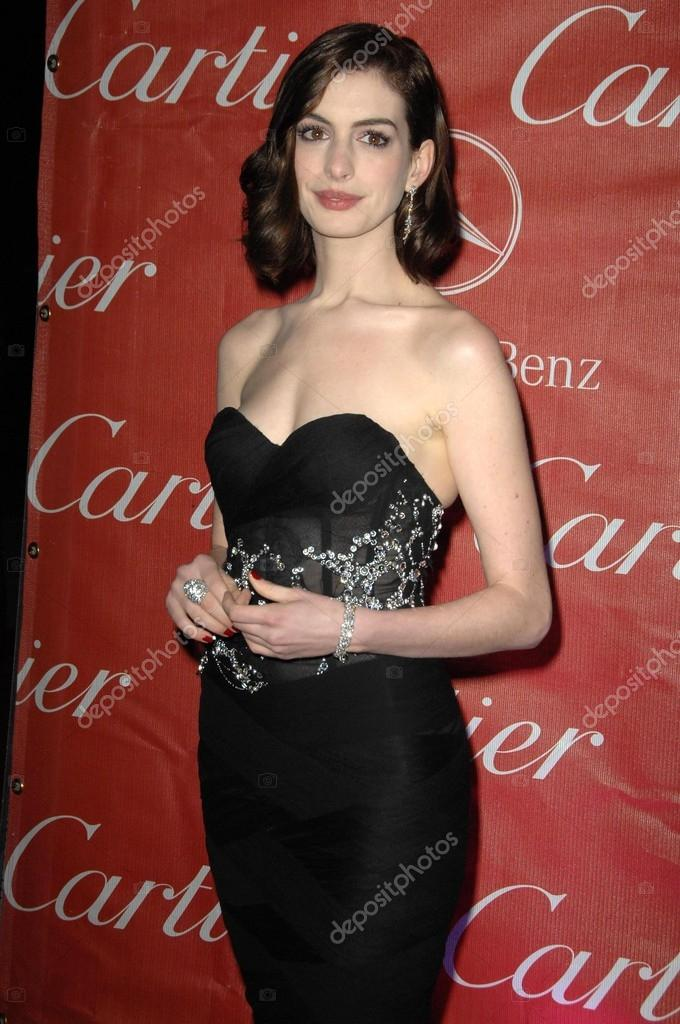 Anne Hathaway at the Palm Springs Film Festival Gala. Palm Springs Convention Center, Palm Springs, CA 01-06-09 stock vector