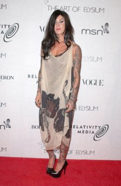 Kat von D at the Third Annual Art of Elysium Black Tie Charity Gala, Beverly Hilton Hotel, Beverly Hills, CA. 01-16-10