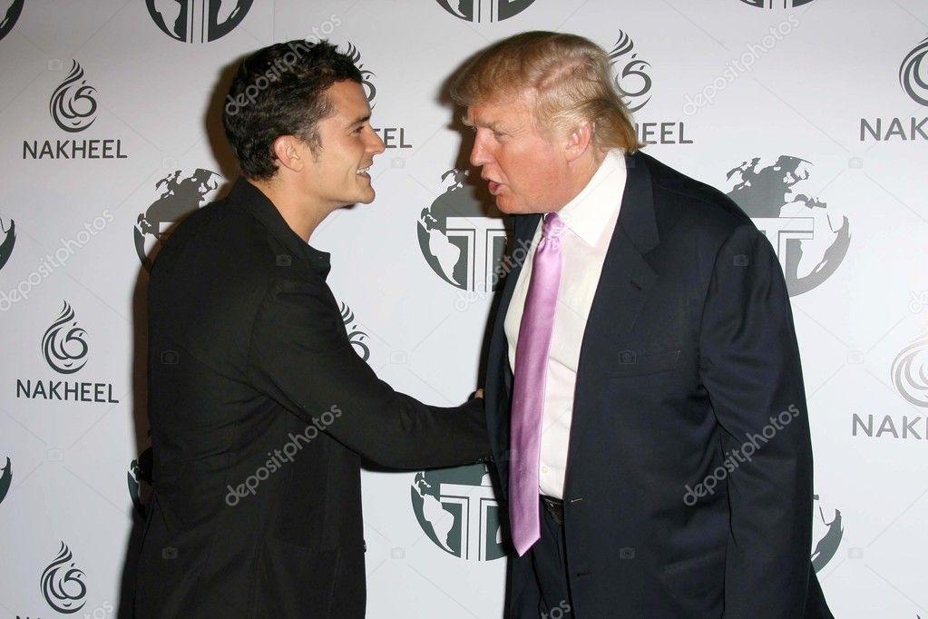 Orlando Bloom and Donald Trump