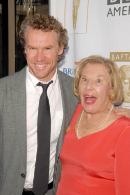 Tate Donovan and his mother