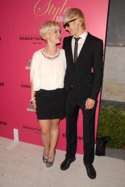 Kelly Osbourne and Luke Worrall at the 6th Annual Hollywood Style Awards. Armand Hammer Museum, Westwood, CA. 10-11-09