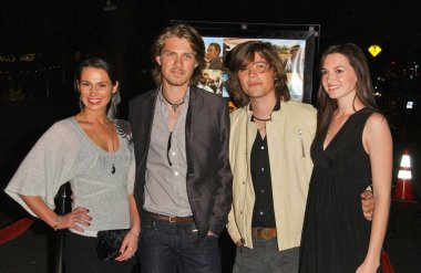 Taylor Hanson with Zac Hanson and guests