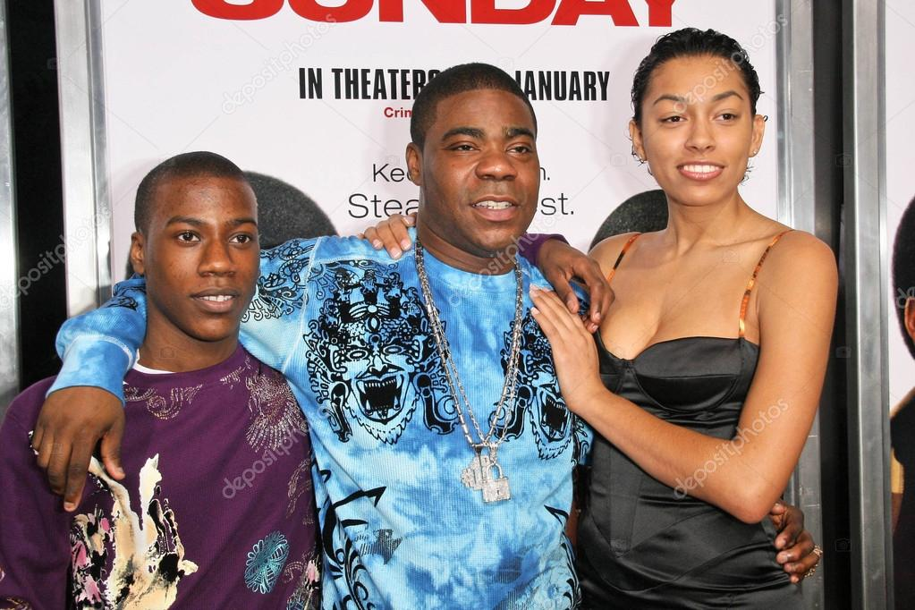Tracy Morgan with son Tracy Jr and friend – Stock ...