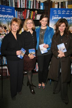 Kathy Baker and Robin Swicord with Maggie Grace and Amy Brenneman at the Jane Austen Book Club DVD Signing, Barnes and Noble The Grove, Los Angeles, CA. 02-05-08