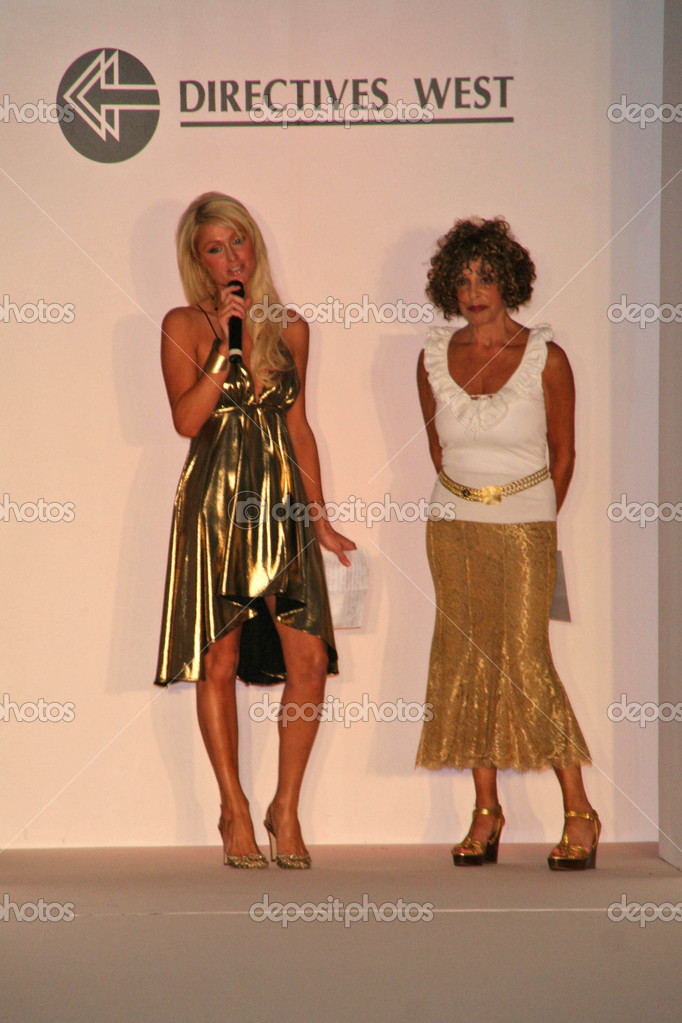 8a34fe3dc73 Paris Hilton and Sandy Richman at the fashion show debut of Paris Hilton  Clothing Line by Steve Madden