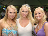 Alana Curry with Pamela Anderson and Katie Lohmann at the Playboy Mansion Easter Egg Hunt. Playboy Mansion, Los Angeles, CA. 04-07-07