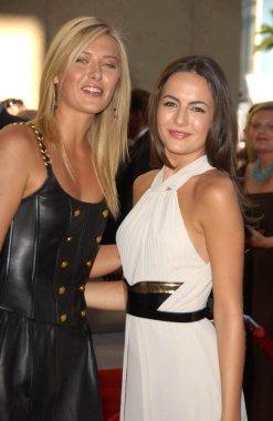 Maria Sharapova and Camilla Belle