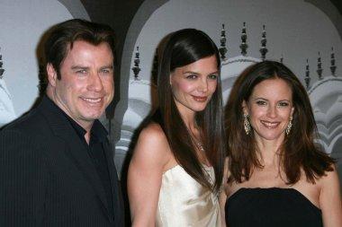 John Travolta with Katie Holmes and Kelly Preston