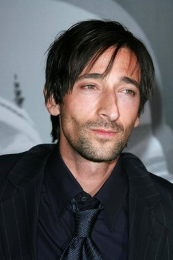 Adrien Brody at the Giorgio Armani Prive Show to celebrate the Oscars. Green Acres, Los Angeles, CA. 02-24-07
