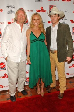 Richard Branson with Jewel and Ty Murray