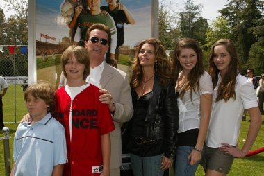 Maria Shriver and Arnold Schwarzenegger with family