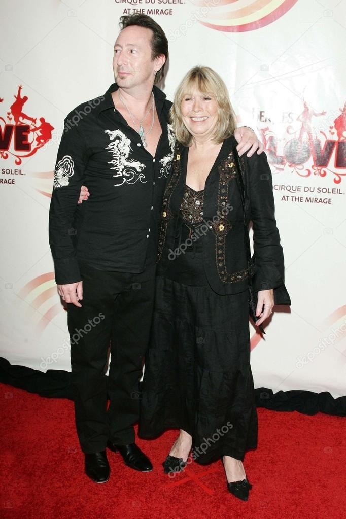 Julian Lennon And Cynthia Stock Photo
