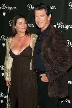 Keely Shaye Smith and Pierce Brosnan at the Dom Perignon Rose Vintage 1996 Champagne New Image Launch Party. Private Residence, Beverly Hills, CA. 06-02-06